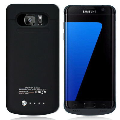 Power Bank Battery Backup Charging Case Cover F Samsung Galaxy S7 Edge SM-G935R4
