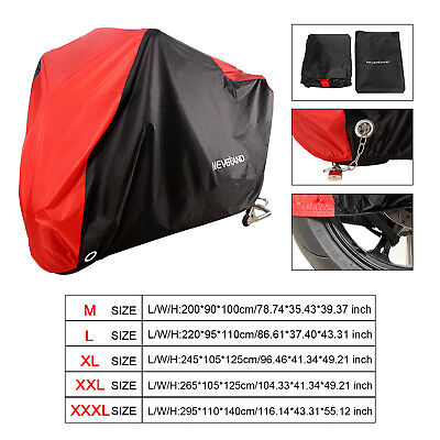 M-3XL Motorcycle Cover Waterproof Motorbike Cruiser Scooter Rain Dust Protector