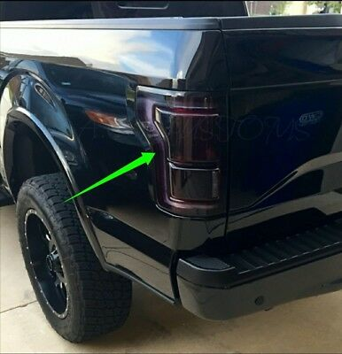 2015 2016 2017 Ford F150 Smoked Tail Light Precut Tint Cover Vinyl Overlays Kit