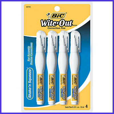 [No Tax]  BIC Wite-Out Shake 'n Squeeze Correction Pen, 4-count
