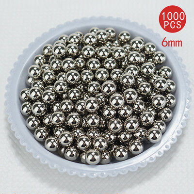 1000pcs Steel Replacement Parts 6mm Bike Bicycle Steel Ball Bearing Part AU