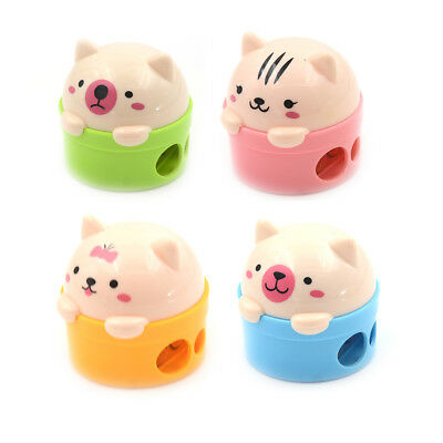 3D Plastic Kawaii Cartoon Cat School Stationery Cutter Pencil Sharpener  X