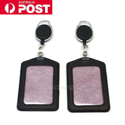 Retractable Lanyard ID Badge Opal Card Holder Business Security Pass SYD STOCK