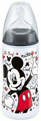 NUK First Choice Mickey Minnie 300ml Bottle Baby Toddler 6-18 mths Silicone Teat