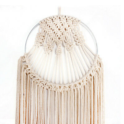 40*100cm Handmade Macrame Wall Hanging Woven Cotton Rope Wall Art Tapestry Decor