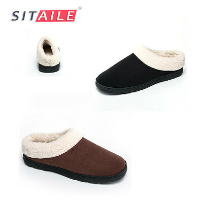 Mens Winter Indoor Home Plush Soft Warm Adult Men Fur Cozy Slippers House Shoes