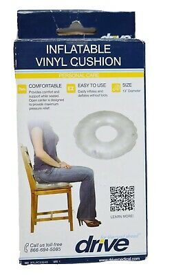 "Drive Medical Inflatable Vinyl Ring Cushion 13"" diameter"