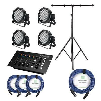 Projecteur Led Spot Support Mixer Cables Set Dj Pa Flatline Panel Rgb Xlr Dmx