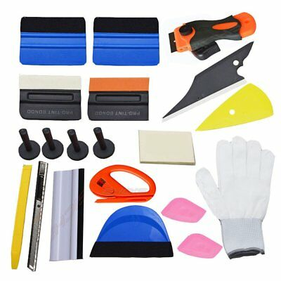 New Comby Car Window Film Squeegee Tools Scraper Set Kit Magnets Tint Vinyl OY