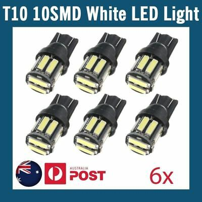 6x White T10 7020 SMD 10 LED W5W Wedge Tail Side Car Lights Turn Parker Bulb 12V