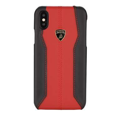 Lamborghini Huracan-D1 Leather (Red) Back Cover Case for iPhone X
