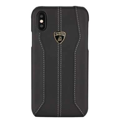 Lamborghini Huracan-D1 Leather (Black) Back Cover Case for iPhone X