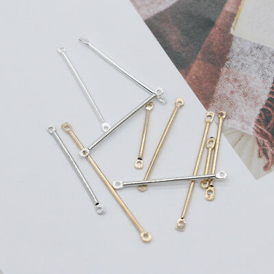 50p 16mm 20mm 25mm 30mm 35mm 40mm Bar Connector stick jewellery making findings