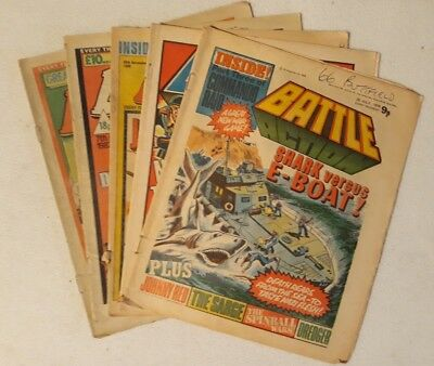 5 Issues Battle (Action) 1978 - 1982 - VG - VF