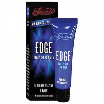 Edge Delay Gel For Men - 100% Natural Gives Ultimate Staying Power. No Numbing!