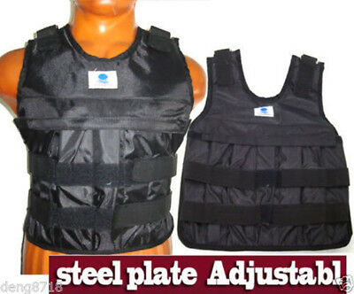 Adjustable Weighted Vest Exercise Weight Jacket Boxing Fitness Training (Empty)
