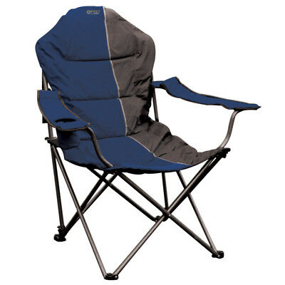 Quest Elite Deluxe Comfort Reclining Folding Chair u2013 Blue Portable C&ing Seat  sc 1 st  PicClick UK & QUEST ELITE DELUXE Comfort Reclining Folding Chair u2013 Blue Portable ...