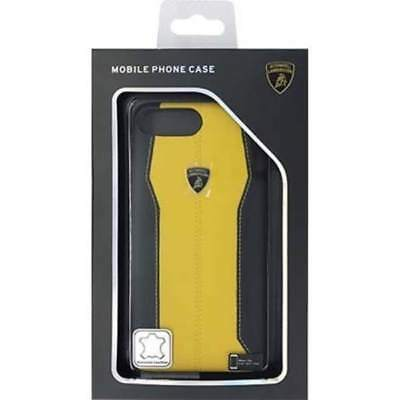 Lamborghini Huracan-D1 Leather Yellow Back Cover Case for iPhone 7 Plus / 8 Plus