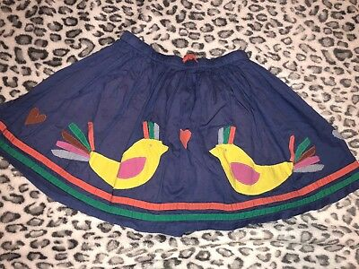 Mini Boden Ruffle Skirt Double Layered Aplique  Size 9-10 Y . Euc