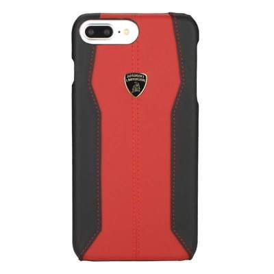 Lamborghini Huracan-D1 Leather Red Back Cover Case for iPhone 7 Plus / 8 Plus