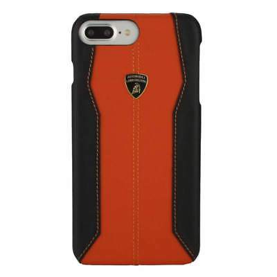 Lamborghini Huracan-D1 Leather Orange Back Cover Case for iPhone 7 Plus / 8 Plus