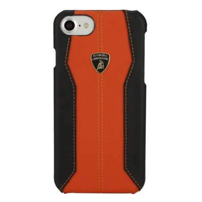 "Lamborghini Huracan-D1 Leather Orange Back Cover Case for iPhone 7 / 8 (4.7"")"
