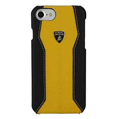 "Lamborghini Huracan-D1 Leather Yellow Back Cover Case for iPhone 7 / 8 (4.7"")"