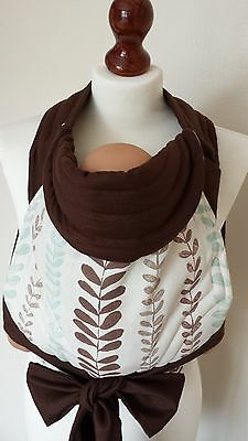 Mei Tai, Meh Dai, Bei Dai Baby Carrier/sling/reversible/little Beauty With Brown