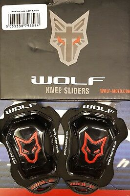 Wolf Motorcycle racing knee sliders - NEW