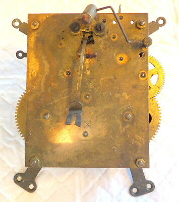"Antique ""HAC"" German Mantel Clock Movement for Restoration or Spares, c1891"