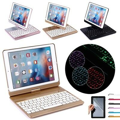 """AU 360 Swivel Smart Case Cover Bluetooth Keyboard For iPad 5th 6th 9.7"""" Air Pro"""