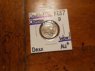 1937D DDO Buffalo Nickel AU+!!!!!!!!!! WOW!!!!!!!!!