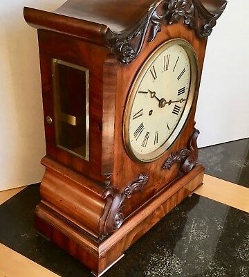 Double Fusee Mantle Clock Working 1850-1860 Possibly German Movement