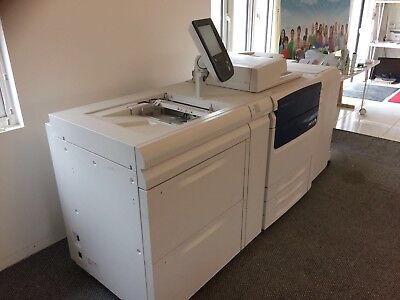 PRINTER Xerox C75 SRA3 Colour Digital Press & Deck Finisher Booklet And Fiery