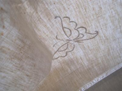 Xl Unused Vintage French Pure Linen Sheet, Superb Fabric, Unfinished Decoration
