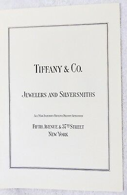 Original Tiffany & Co. Jewelers & Silversmiths 5th Ave. New York 1922 Print Ad