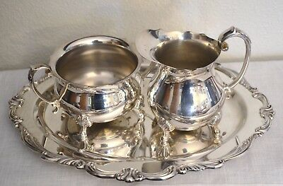 "Towle ""Old Master"" Sugar & Creamer Set with Tray"