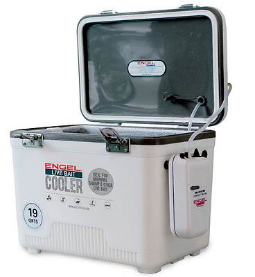 New Style Engel Live Bait Cooler 19Qt  Quart  (Aereated Bucket) (Crappie Pole)