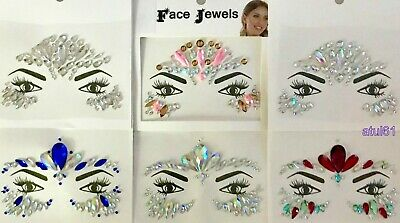Face Body Gems Stick on Adhesive Jewel Tattoo Wedding Festival Rave Party Makeup