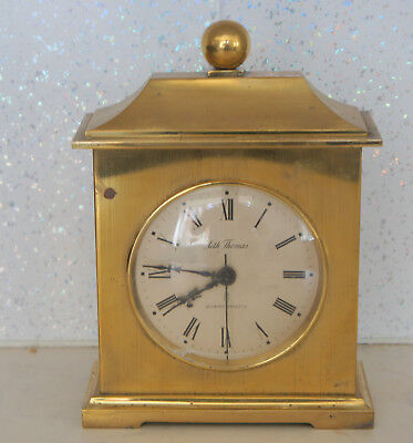 vintage brass battery clock