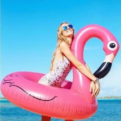 bouee FLAMANT ROSE gonflable 115x100cm GEANTE adulte FLAMINGO