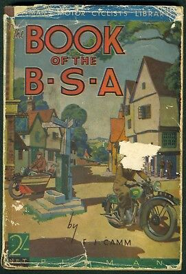 The Book of the BSA 1937 BSA FJ Camm original Motorcycle Manual