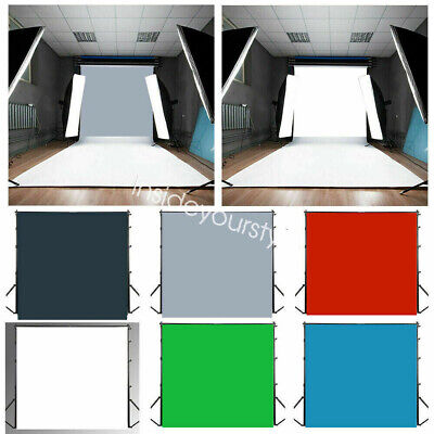 US Solid Color Vinyl Cloth Photography Background Studio Photo Prop Backdrop HOT