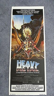 Heavy Metal 1981 Unfolded Insert Movie Poster Musical Sci Fi 45 00 Picclick