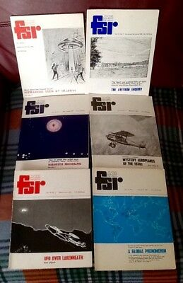 Complete set 1970 Flying Saucer Review FSR UFO Fortean Mufon Paranormal