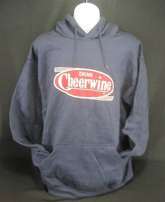 Cheerwine Navy Blue Sweatshirt Hoodie NEW Medium North Carolina Cherry Soda
