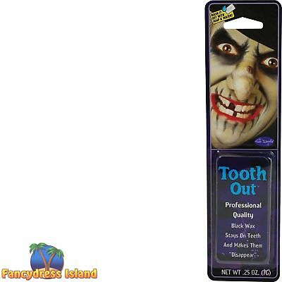 HALLOWEEN BLACK OUT TOOTH WAX PIRATES WITCHES Fancy Dress Make Up