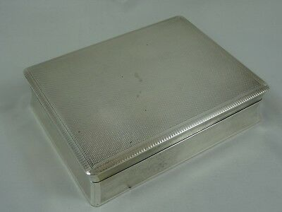 SOLID  silver CIGARETTE BOX, 1951