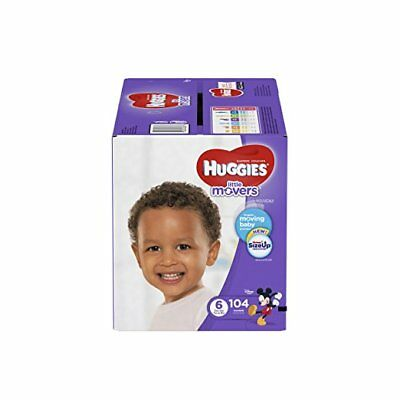 HUGGIES LITTLE MOVERS Diapers, Size 6 (35+ lb.), 104 Ct., ECONOMY PLUS