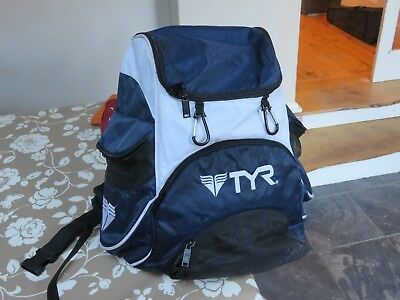 TYR Alliance 2  Navy Blue and White Swim rucksack in Good Condition (used)